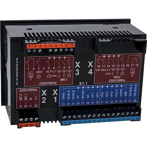 Heizungsregelung Theta+ 23B Set mit Fühler und Klemmen - Rückseite